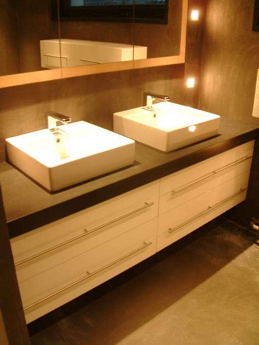 Salle de bain meubles sur mesure salle de bains sur for Miroir salle de bain sur mesure