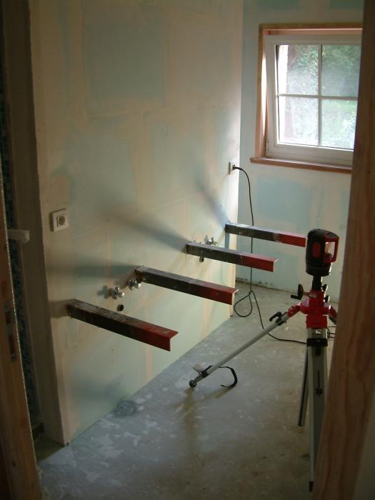 Salle de bain meubles sur mesure r alisation d 39 une salle de bains au to - Plan vasque sur mesure ...