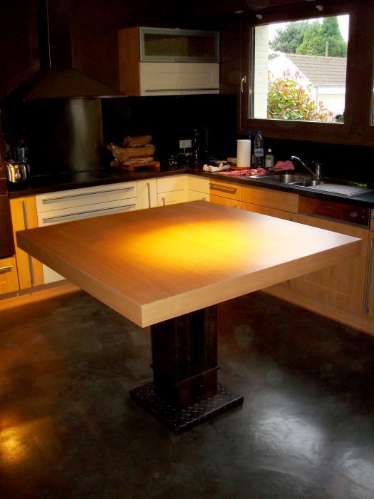 Cuisine meubles sur mesure table de cuisine roubaix lille - Table de cuisine sur mesure ...