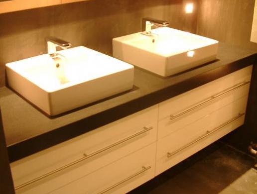 Salle de bains sur mesure, réalisée à Mouvaux